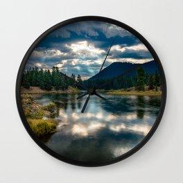 Snake River Revival - Morning Along Snake River in Grand Tetons Wall Clock