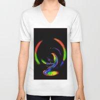 fantasy V-neck T-shirts featuring  Fantasy  by Walter Zettl