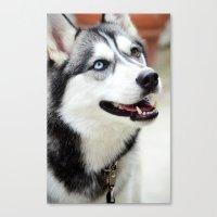 husky Canvas Prints featuring HUSKY  by Porterhouse LA