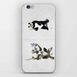 Donkey Xote and Sancho Panda (Wordless) iPhone Skin