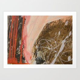 Shoes and splatters Art Print