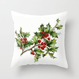 Holly Berries 20171001 by JAMFoto Throw Pillow