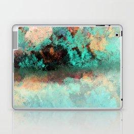 Bright Aqua and Copper Pond Landscape Laptop & iPad Skin