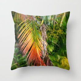 Palm Glow 2 Throw Pillow