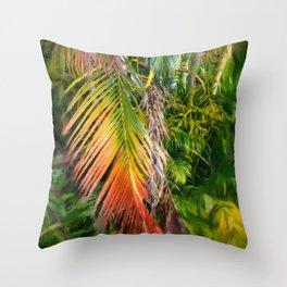 Palm Glow 2 Throw Pillow