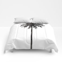 Watercolor Palm Tree Comforters