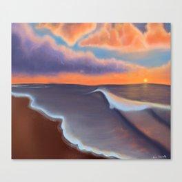 Lavender Beach Sunset Canvas Print