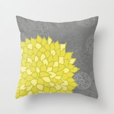 Spring colorful peonies yellow #5 Throw Pillow