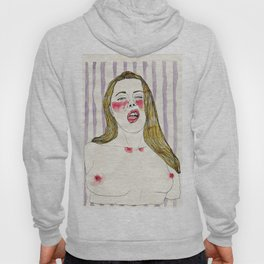 An erotic point of view - mouth Hoody