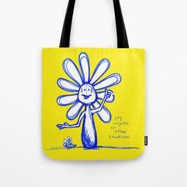 """Joy Inspires All Other Emotions"" Flowerkid Tote Bag"