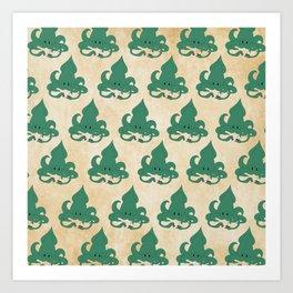 Kraken Pattern Art Print