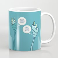 lost in translation Mugs featuring LOST IN TRANSLATION by AnishaCreations