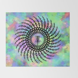 Disc Golf Basket Chains Throw Blanket