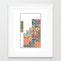 tetris Framed Art Prints featuring TETRIS by Bianca Green