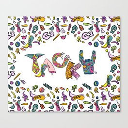 Tacky Type & Pattern Canvas Print
