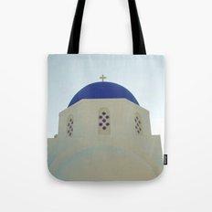 Santorini Churches V Tote Bag