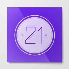 Twenty-One Metal Print