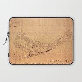 Map Of Toronto Islands 1947 Laptop Sleeve