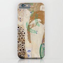 Gustav Klimt - Friends .Water Serpents iPhone Case