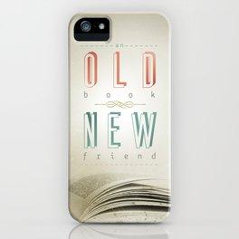Poster (book & friend) iPhone Case