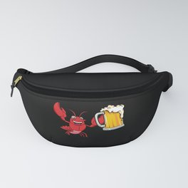 Yummy Lobster Holding Alcoholic Beer Fanny Pack