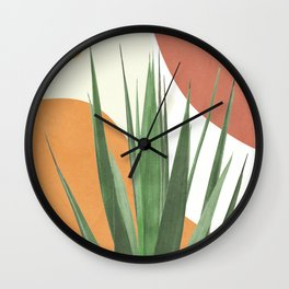 Abstract Agave Plant Wall Clock