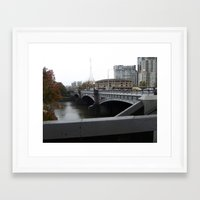 melbourne Framed Art Prints featuring Melbourne by Jeremy Buckley illustration