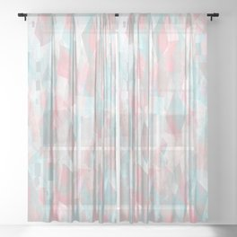 Geometric abstract Sheer Curtain