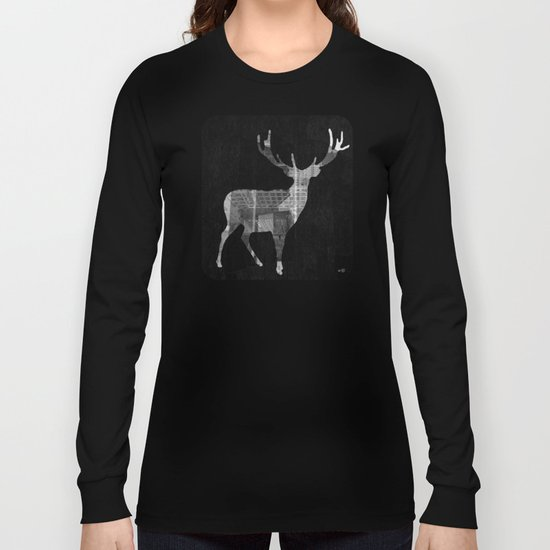 Deer City Collage 2 Long Sleeve T-shirt