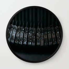 Rods old typewriter Wall Clock