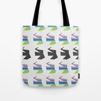 elephants Tote Bags featuring Elephants by Elle Major