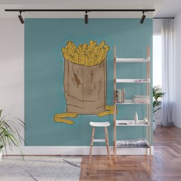 THERE'S ALWAYS TIME FOR FRENCH FRIES! - BLUE Wall Mural