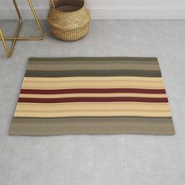Rich Gold Burgundy Stripes Rug