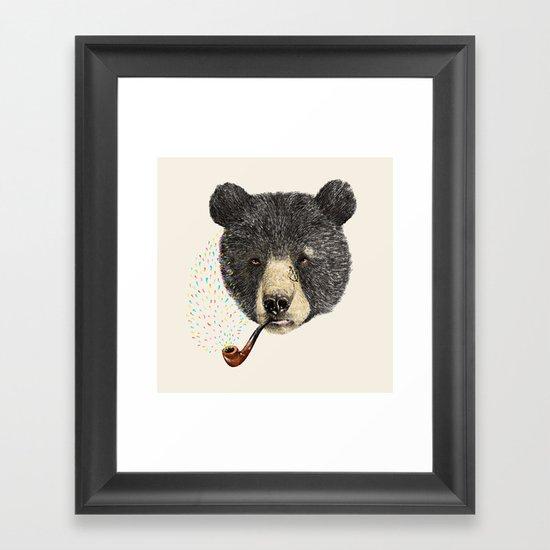 BLACK BEAR SAILOR Framed Art Print