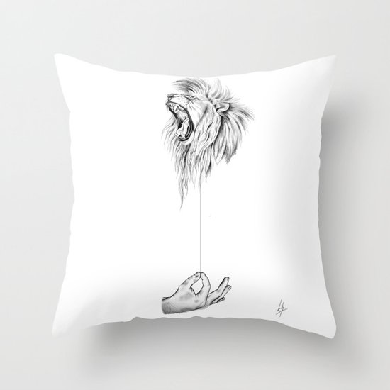 Hear me Roar Throw Pillow