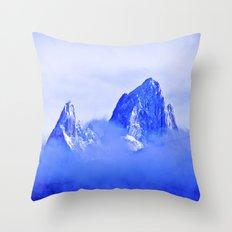 Two mountains. Throw Pillow
