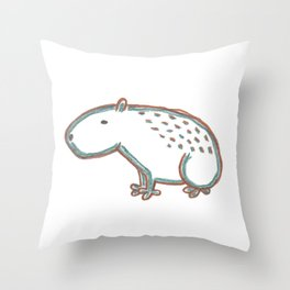 Capybara Throw Pillow