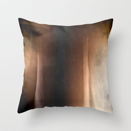 Brown abstraction  Throw Pillow