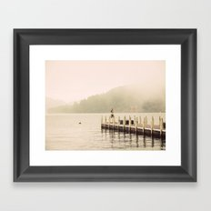 Misty Shrine Framed Art Print
