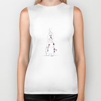 olaf Biker Tanks featuring olaf by Art_By_Sarah