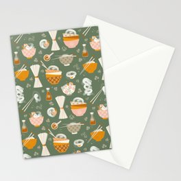 Noodle bowl dishes Stationery Cards