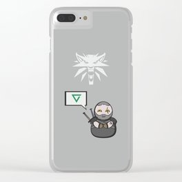Witcher - Geralt Clear iPhone Case