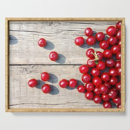 Spilled ripe cherries Serving Tray