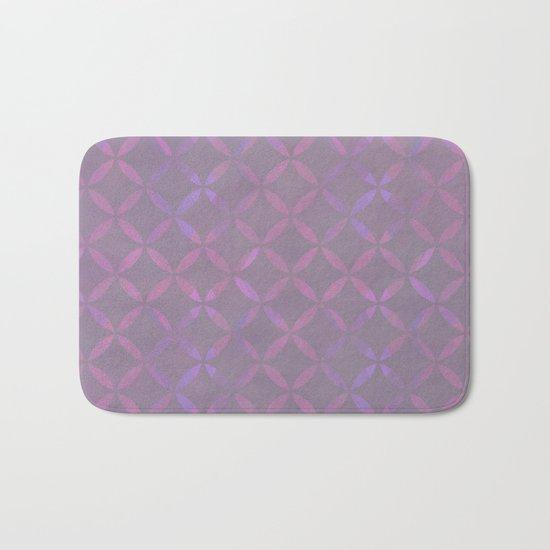 Round Pink Grey Pattern Bath Mat