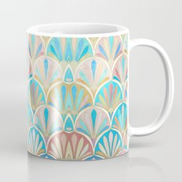 Vintage Twenties Art Deco Pastel Pattern Coffee Mug