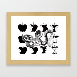 Fork Tongue Framed Art Print