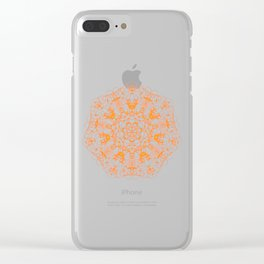 Magic Seven Mandala eden spirit orange Clear iPhone Case