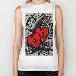 Hearts pierced with an arrow Biker Tank