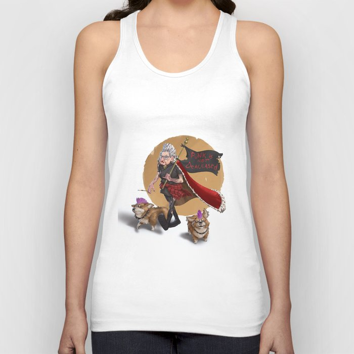 God save the Queen Unisex Tank Top