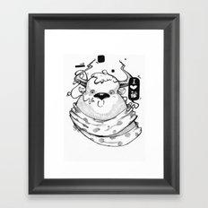 Little Lovely Reindeer Framed Art Print